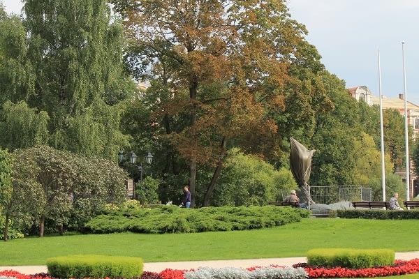 Park in Riga, next to opera house in Riga
