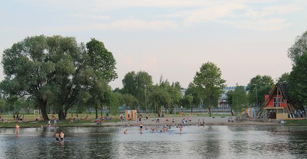 Lucavsala park in Riga. Riga tours