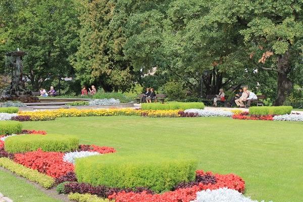 Nice garden next to National opera house in Riga