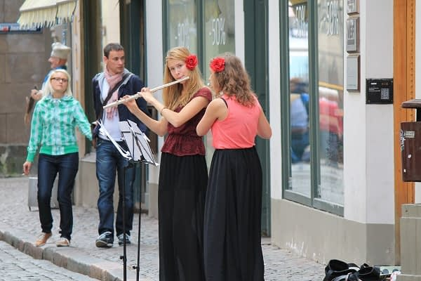 Musicians in the streets of Riga