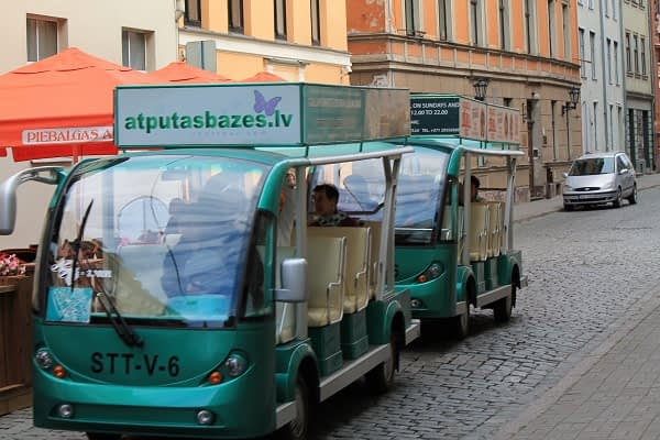 Old town sightseeing transport in Riga