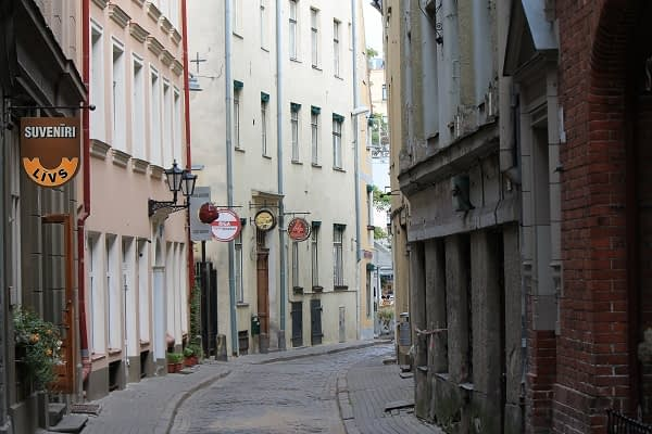 Riga old town small streets