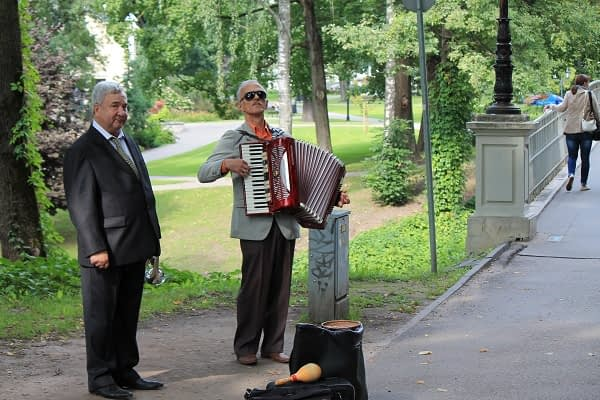 Musicians in Riga old town