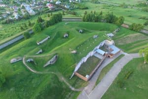 79131261 - ninth fort aerial view in kaunas, lithuania