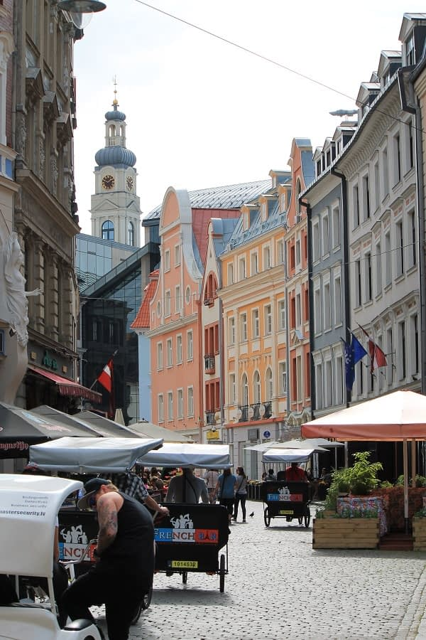 Streets of Riga old town