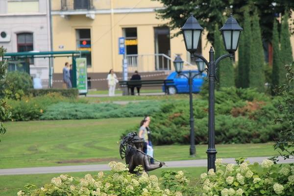 Park next to opera house in Riga